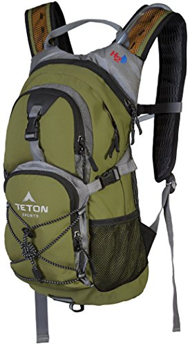 TETON Sports Oasis 1100 Hydration Pack | Free 2-Liter Hydration Bladder | Backpack design great for Hiking, Running, Cycling, and Climbing 3 SATISFY YOUR THIRST FOR ADVENTURE: Lightweight and comfortable; This hydration pack is a terrific companion for all your day-long or overnight hydration needs; Size 1100 Cubic Inches (18 L) FREE HYDRATION BLADDER: BPA free, 2-liter hydration bladder; Durable, kink-free sip tube and innovative push-lock cushioned bite valve; Large 2-inch (5cm) opening for ice and easy cleaning CUSTOMIZABLE COMFORT: Backpack for men, women, and youth; Adjusts to fit all frames comfortably; Notched foam stabilizer and mesh covering means you can wear this pack for hours