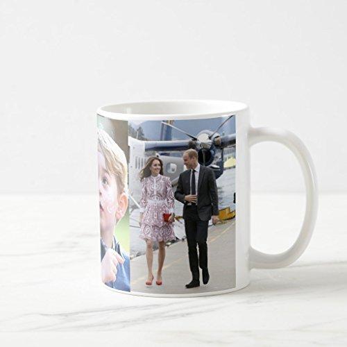 Zazzle Prince George & William Princess Charlotte & Kate Coffee Mug, White Classic Mug 11 oz