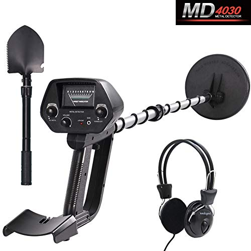 Kingdetector MD-4030 Pro Edition Hobby Explorer Waterproof Search Coil with shovel Metal Detectors (Best Places To Find Coins With A Metal Detector)