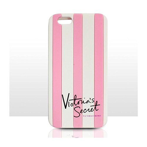 93c8aa8869ccb Victoria's Secret Striped Iphone 5 & Iphone 6 case cover silicone rubber  Apple Iphone case PINK (Iphone 6)