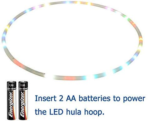 Maylai 36″ Led Hula Hoop for for Kids and Adults Changing LED Lights Light weight Hula Hoops