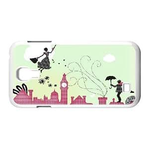 Jackalondon Art Prints Samsung Galaxy S4 Case Mary Poppins London, Cute Design Art Prints, {White}