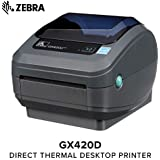 Zebra - GX420d Direct Thermal Desktop Printer for Labels, Receipts, Barcodes, Tags, and Wrist Bands - Print Width of 4 in - USB, Serial, and Parallel Port Connectivity (Renewed)