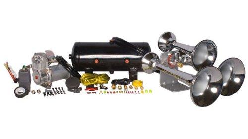 HornBlasters Chrome Outlaw HK-C3-232 Train Horn Kit