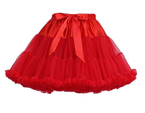 Rock Tulle Femme Underskirt en Petticoat Jupe Rouge Rockabilly Petticoat Courte Vintage rIqwI8z