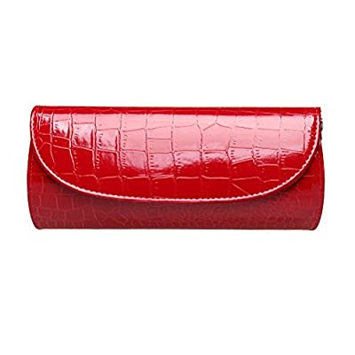 Fashion Road Evening Clutch, Womens Croc Skin Embossed Clutch Purses, Handbags For Party And Wedding