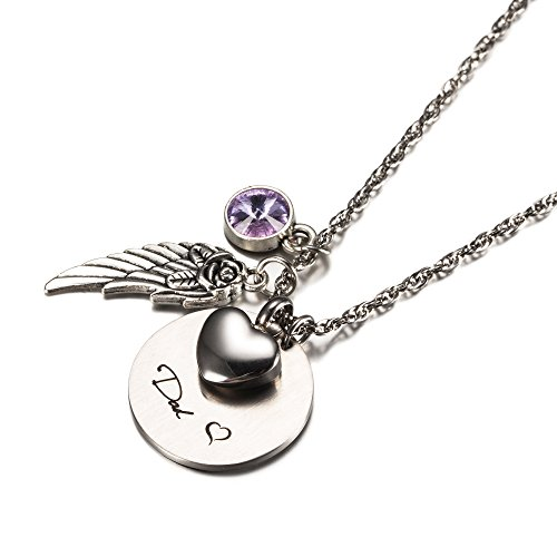 Cremation Jewelry for Mom/Dad Urn Ashes NecklaceMemorial for Loss of Loved One by CheKu (Dad June)