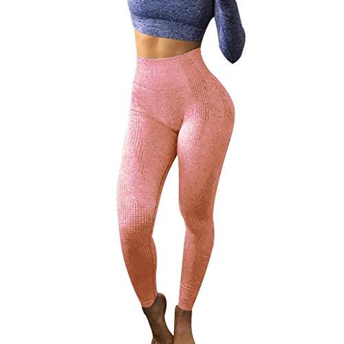 BODOAO Yoga Pants Women Hip Seamless Jacquard Point High Waist Speed Dry Pants Fitness Yoga Leggings Watermelon Red
