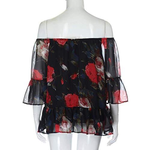 Courtes Fleur Femme Et Tops Manches Loisir Chic Blouse Party Mode A lgant Haut Blouse Shirts Mousseline en blau Jeune Modle Carmen Costume 5tYwdn5qCx