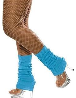 466c2161751 Ladies Neon Yellow Green Orange Pink Blue 1980s Fancy Dress Costume Leg  Warmers