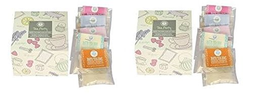 Pack of 2, Tea Party Bath Gift Sets, 2 Boxes of 5 Aromatherapy Salt Tea Bags Wild Olive