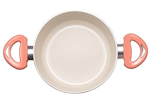 Essenso Ecotouch Lazio Enamel-Coated Dutch Oven with Nonstick Ceramic Interior, PTFE / PFOA Free, 4 Quart, Orange