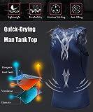 HIBETY Men's 3 Packs Sleeveless Compression Tank