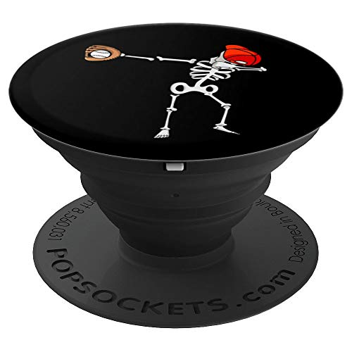 (Dabbing Baseball Skeleton | Softball Lovers Design Gift - PopSockets Grip and Stand for Phones and)