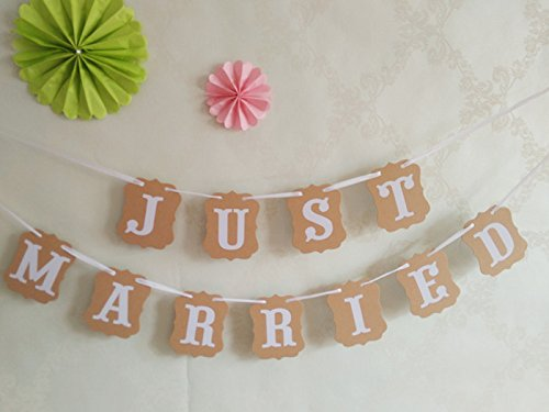 Wedding Banner Photo Props Decoration 3m (Brown) - 3