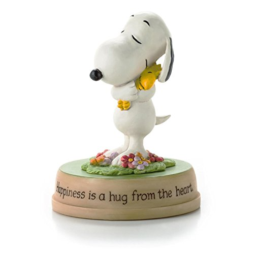 Hallmark Peanuts Happiness is a Hug from The Heart Snoopy and Woodstock Figurine
