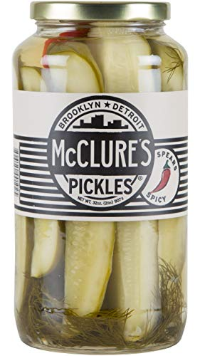 McClure's Spicy Dill Pickles (Spears) - 32 oz, Pack of - Pickles Dill Spicy