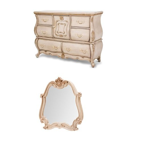 Michael Amini Lavelle Cottage Dresser and Mirror, - Mirror Michaels