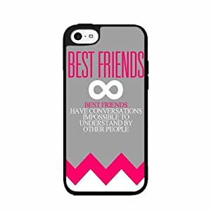 Pink Bestfriends Quote Plastic Phone Case Back Cover iPhone 5c