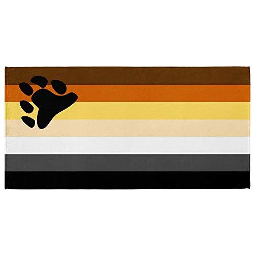 International Bear Brotherhood Flag Beach Towel Pride Parade 30 x 60 inches Resistance Movement ()