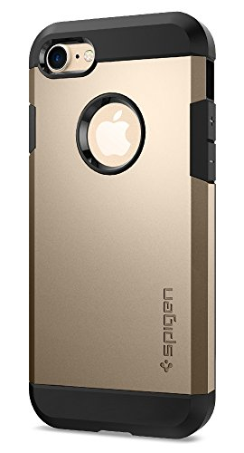 Spigen Tough Armor iPhone 7 Case with Heavy Duty Protection and Air Cushion Technology for Apple iPhone 7 (2016) - Champagne Gold
