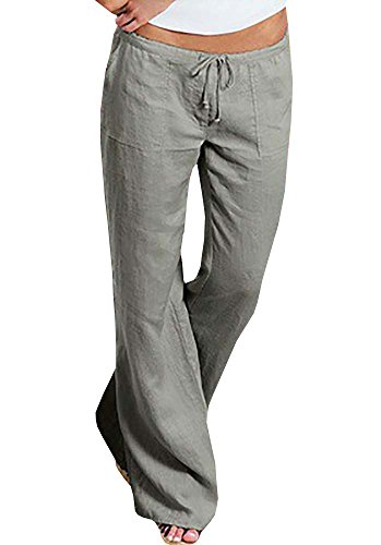 Womens Linen Pants - 5