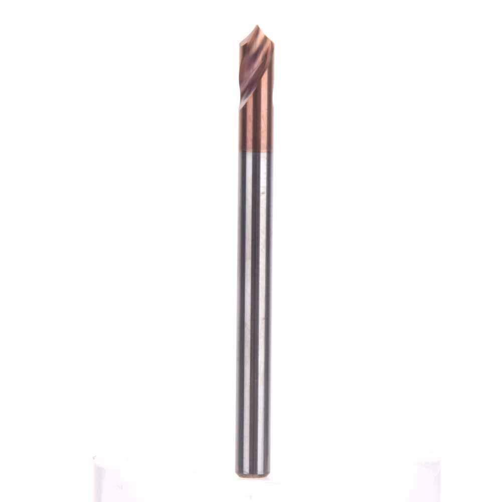 Titanium Silicon Coating Spotting Drill D3502T90/° 55HRC Hardness High Speed Steel NC Spotting Drill Bit 90 Degree Drilling Chamfering Tool