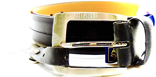 Nat Nast Belt Luxury Original Italian Leather Metal Buckle Logo Nordstrom Rack  36  Black