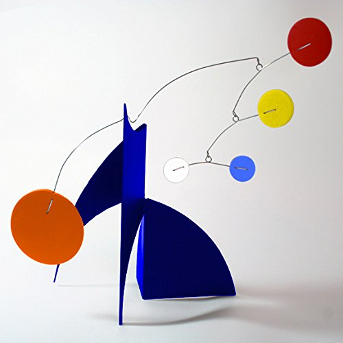 The Moderne Art Stabile in Multi Colors - a mobile you display on desktop, coffee table, or shelf - Inspired by Alexander Calder - Eames Midcentury Modern Style