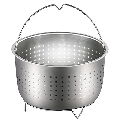 Steamer Basket, Anumit Instant Pot Accessories Stainless Steel Strainer and Insert fits 6 or 8 Quart IP Insta Pot, Instapot, Other Pressure Cookers and Pots, Great for Steaming Vegetables Fruits Eggs For Sale