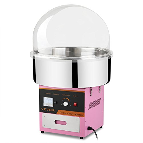 Mophorn Electric Cotton Candy Machine with Bubble Cover Cotton Candy Maker with Cover for Kids Cotton Commercial Candy Machine Kit 110V Perfect for Various Parties by Mophorn