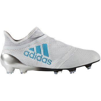 Adidas Junior Edge - adidas Youth X 17+ Purespeed Soccer Cleats, 4.0 D(M) US, Footwear White/Energy Blue/Clear Grey