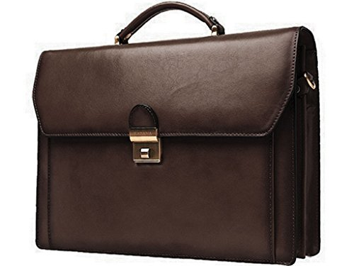 Piel de Vaca Cartable Katana k63025 Briefcase 2 Gussets Marrón - chocolate
