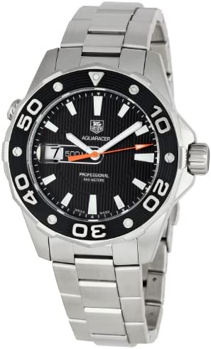 TAG Heuer Men s WAJ1110BA0871 Aquaracer Black Dial Watch