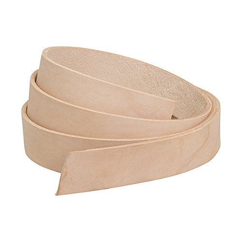 Weaver Leather Plain Belt Blank, Natural, 1 1/2