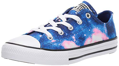 Kids Girls Converse (Converse Girls' Chuck Taylor All Star Miss Galaxy Print Sneaker, Lapis Blue/Coastal Pink/White, 3 M US Little)