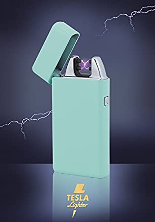 Tesla Lighter T05 (Dual Arc) in der Farbe Türkis/Mint