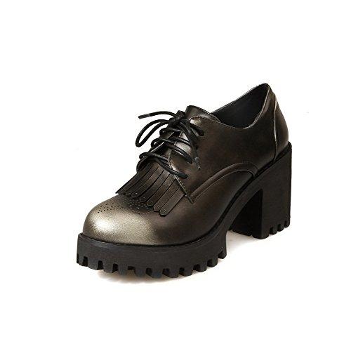 Toe Amoonyfashion kengät Suljetun Kultaa Naisten Korkokengät Sitoa Ympäri Pumput Kiinteä gSwRYaSnq