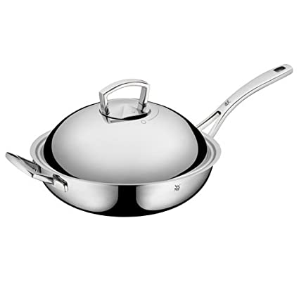 Amazoncom Wmf Stainless Steel Wok With Lid 125 Home Kitchen