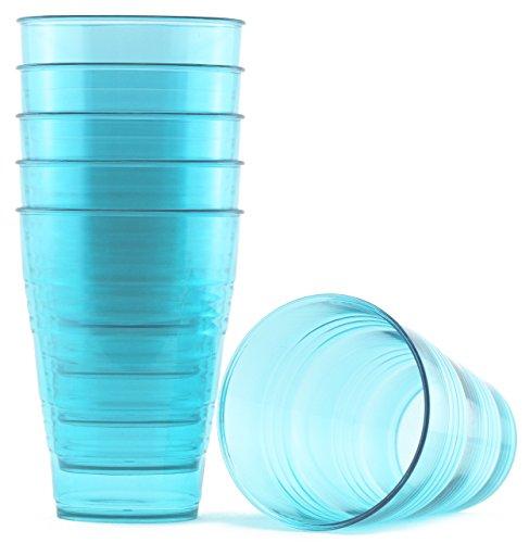 FLEXLINE 20oz Tumblers - Premium Break-Resistant Hard Plastic Cups - Set of 6 - Sky Blue Color - WholeMarket Quality