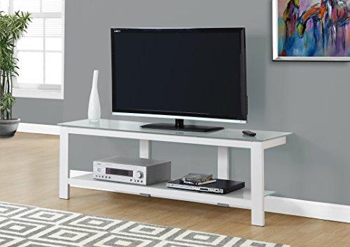 """Monarch TV Stand, White, 60"""""""