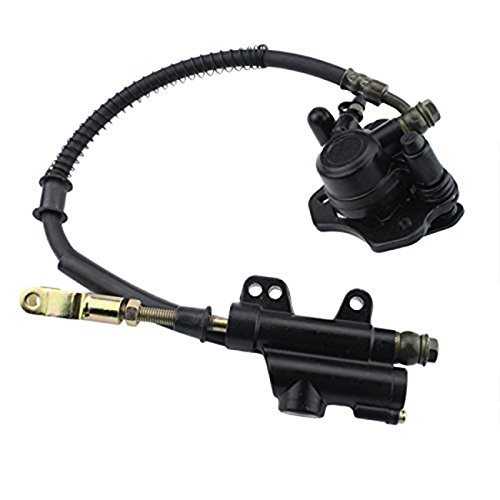INNOGLOW Rear Brake Assembly Master Cylinder Caliper for 50cc 70cc 90cc 110cc 125cc Chinese ATV Quad Off-Road Motorcycle Scooter (Black) by INNOGLOW (Image #3)