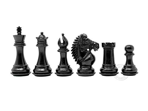 Chess Ebonized (House of Chess - Rio Staunton Weighted Chess Pieces King Height 3