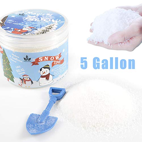 AINOLWAY Instant Snow Fake Snow Powder for Cloud Slime, Makes 5 Gallons of Artificial Snow]()
