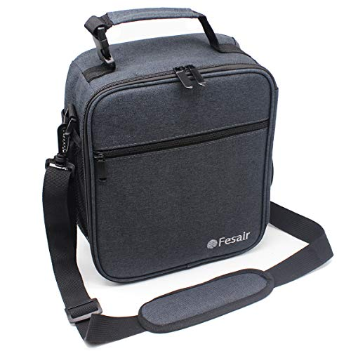 Classic Lunch Bag Larger Heat Retention Insulated Lunch Bag for Men Women Adults Reusable Cooler Lunch Box with Shoulder Strap ()
