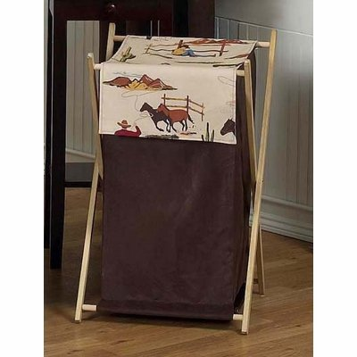 Sweet Jojo Designs Baby and Kids Wild West Cowboy Western Horse Clothes Laundry (Wild Horses Basket)