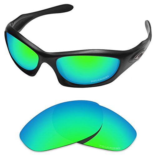 Tintart Performance Lenses Compatible with Oakley Monster Dog Polycarbonate Polarized Etched-Emerald Green