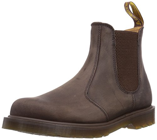Dr. Martens Men's 2976 Crazy Horse Chelsea Boot, Gaucho, 8W / 7M US (Flora Ankle Boot)