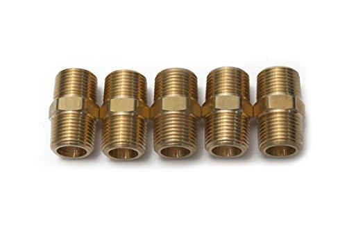 Brass Plumbing Pipe - Generic Brass Pipe Hex Nipple Fitting 3/8