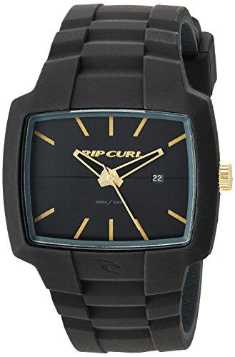 Black Jeweled Ladys Watch - Rip Curl Men's 'Tour' Quartz Plastic and Silicone Sport Watch, Color Black (Model: A2749-GOL)